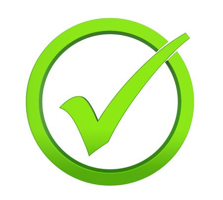 Checklist Isolated Stockfoto
