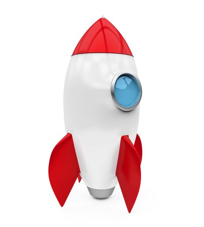 Rocket Space Ship Isolated