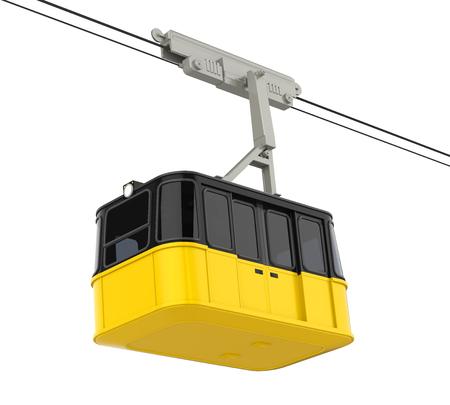 Gondola Lift Cable Car Isolated Stock Photo