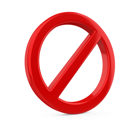 Red Forbidden Sign Isolated
