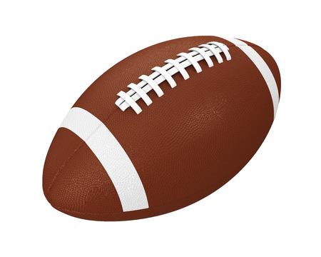 American Football Ball Isolated Stock Photo