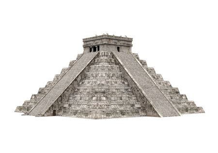 Mayan Pyramid Isolated Stock Photo