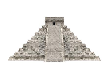 Mayan Pyramid Isolated Stock Photo