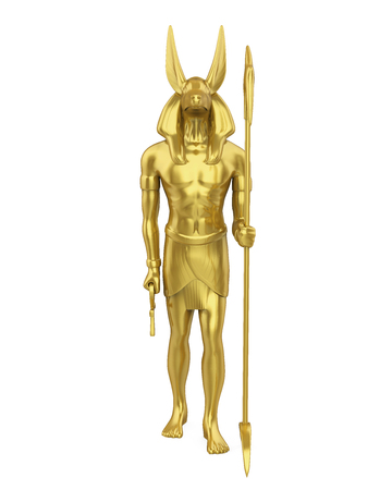 Egyptian Anubis Statue Isolated