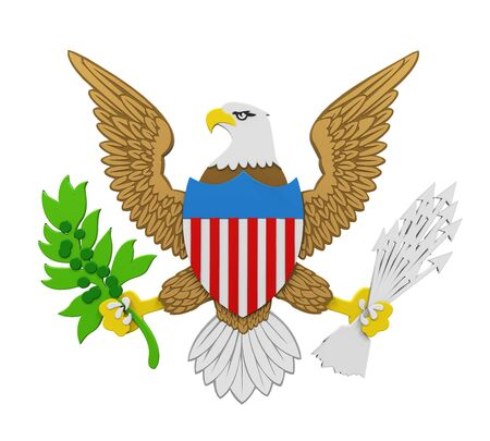 Seal of the President of the United States Isolated Stock Photo