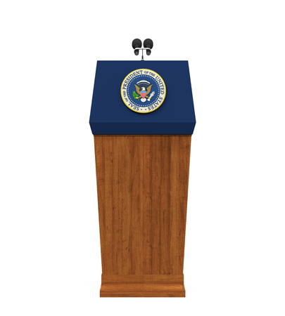 United States Presidential Podium Isolated