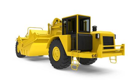 Wheel Tractor Scraper Isolated Imagens