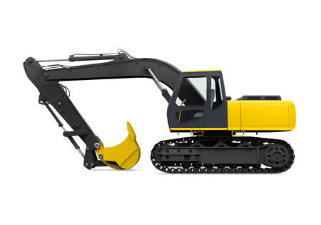 Yellow Excavator Isolated Stock fotó - 95831347