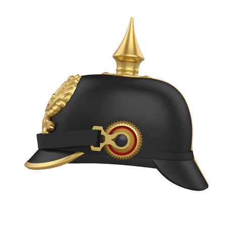 Pickelhaube Spiked Helmet Isolated