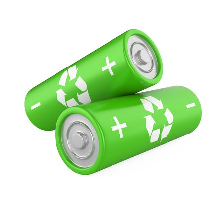 Green Battery Isolated
