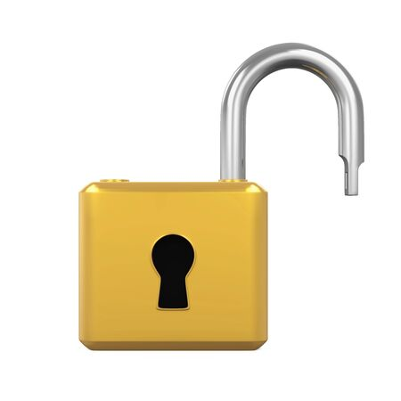 Padlock Opened Isolated