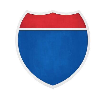 Blank Interstate Highway Sign Isolated Standard-Bild
