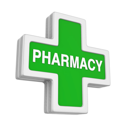 Pharmacy Symbol Isolated 스톡 콘텐츠 - 96307175