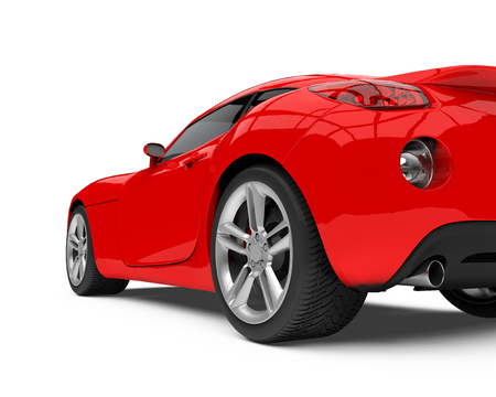 Red Sport Car Isolated