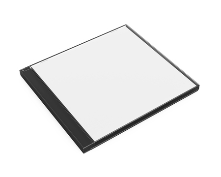 Blank CD Case Isolated Stock Photo