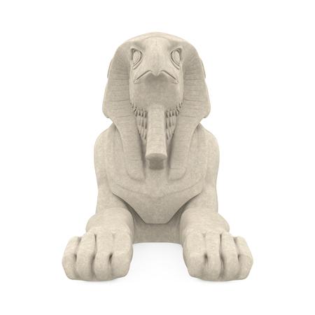 Egyptian God Horus Statue Isolated Stock Photo