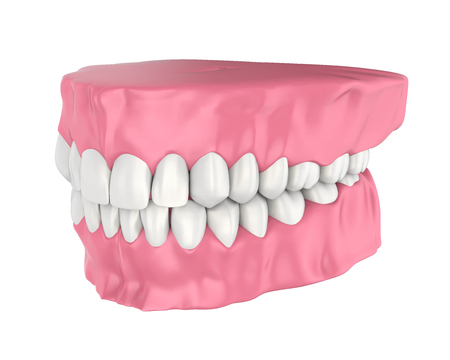 Mouth Gum and Teeth Isolated Stock Photo