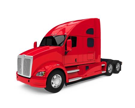 Semi Truck Isolated
