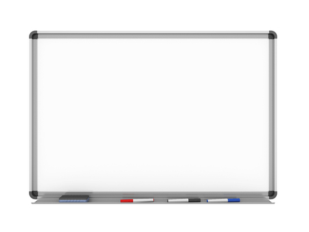 Blank Whiteboard Isolated