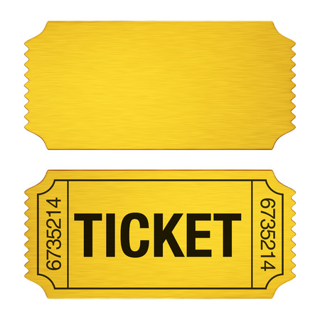 Admission Ticket Isolated Stockfoto