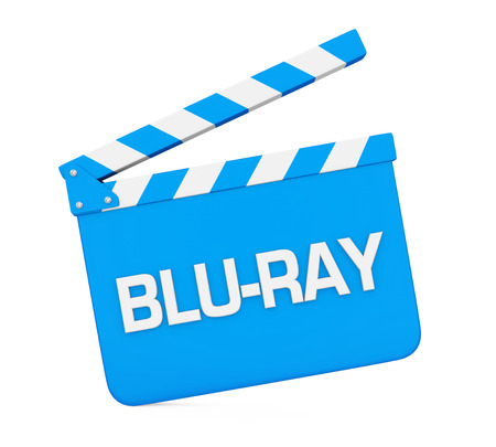 Movie Slate with Blu-Ray Text Isolated