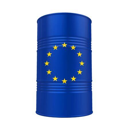 Barril de petróleo de la Unión Europea aislado