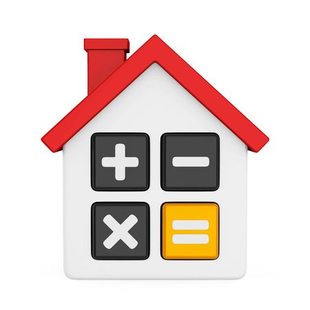 House Calculator Icon Isolated