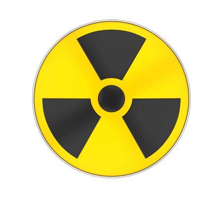 Radioactive Sign Symbol Isolated 스톡 콘텐츠