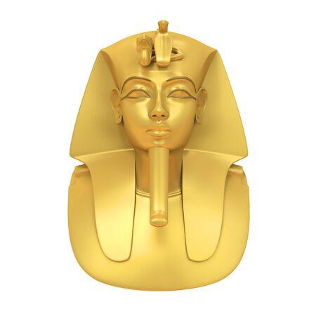Egyptian Pharaoh Mask Isolated
