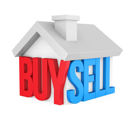 Buy Sell House Icon Isolated