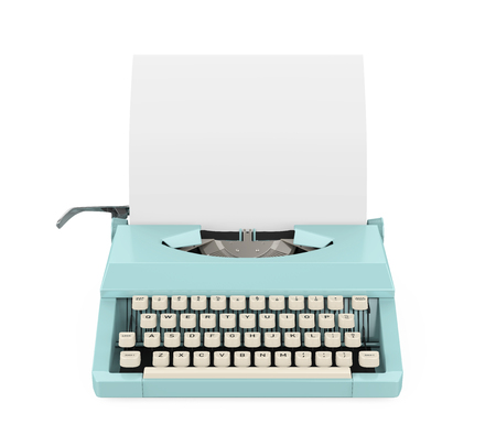 Vintage Typewriter Isolated