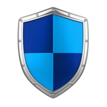 Blue Shield Isolated Banque d'images