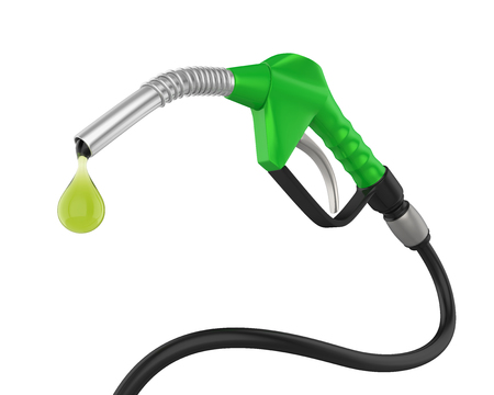 Gas Pump Nozzle Isolated Stockfoto