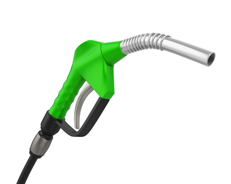 Gas Pump Nozzle Isolated Stock Photo