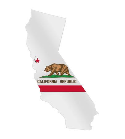 California Map Flag Isolated Stock Photo