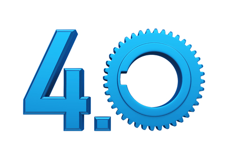 Industry 4.0 Sign Isolated Banque d'images