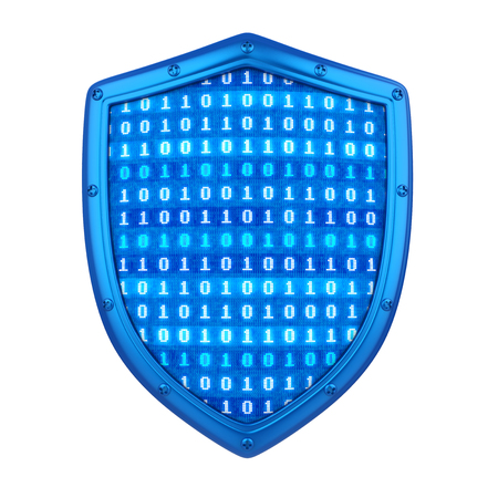 Shield with Binary Code Isolated
