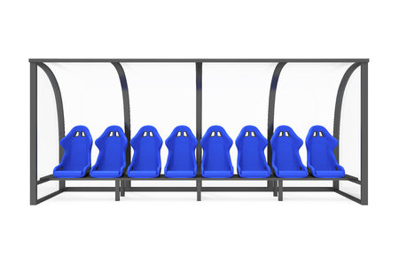 Reserve Chair und Staff Coach Bench isoliert Standard-Bild