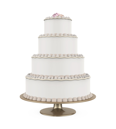 Tiered Cakes Isolated