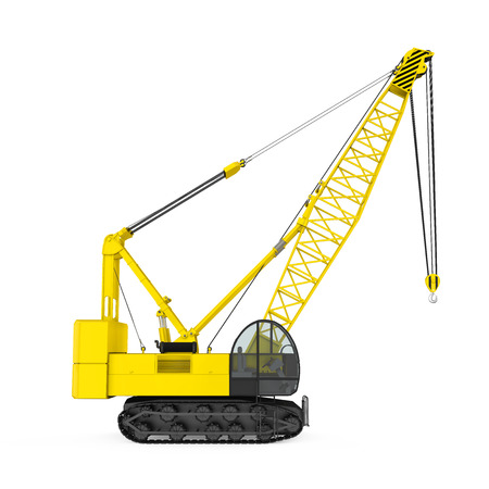 Crawler Crane Isolated 版權商用圖片