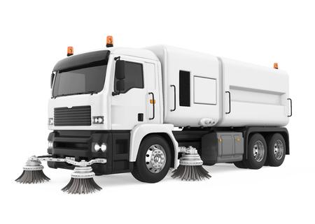 Street Sweeper Machine Isolated Standard-Bild