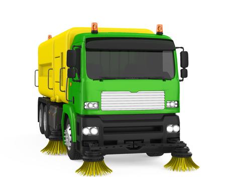 Street Sweeper Machine Isolated Stockfoto