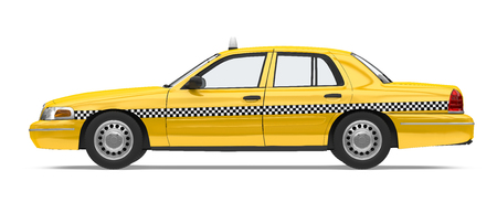 Yellow Taxi Isolated Imagens - 101823046