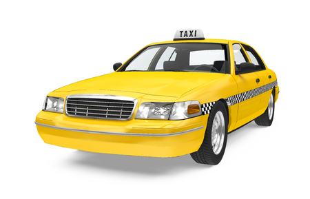 Yellow Taxi Isolated Imagens - 101823050