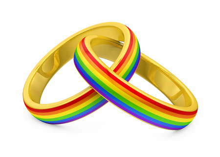Wedding Rings LGBT Isolated