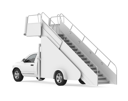 Truck Mounted Passenger Stair Isolated