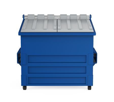 Recycle Dumpster Isolated