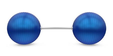 Fitness Ball Dumbbell Isolated
