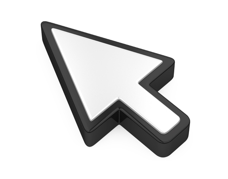 Mouse Cursor Arrow Isolated Banque d'images