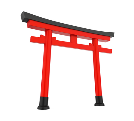 Japan Gate Isolated Stock Photo